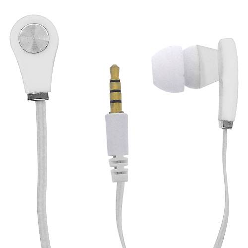 Hands Free Universal In-Ear New 3.5mm WHITE MVolt HAN0129 .
